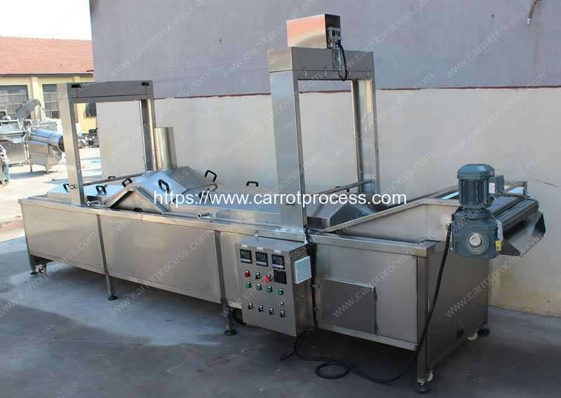 Automatic-Hot-Water-Blanching-Machine-for-Carrot-Stick