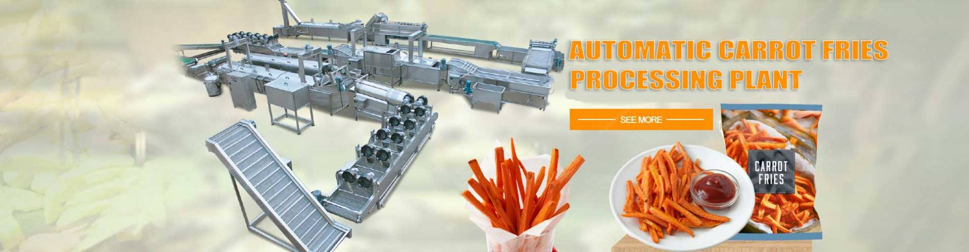 full-automatic-frying-carrot-fries-production-line