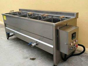 Manual Batch Type Carrot Frying Machine