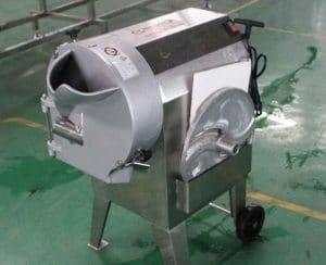 Máquina cortadora de zanahorias multifunción para chips, palos y cubos