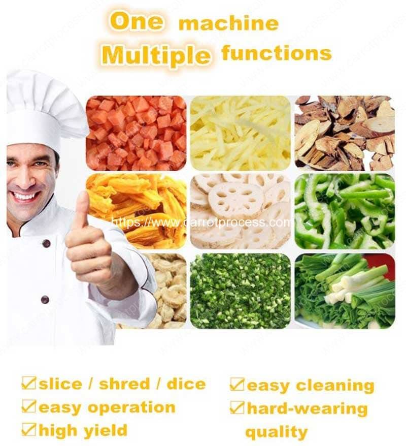 Multi-Function-Carrot-Vegetable-Fruit-Cutting-Dicing-Slicing-Machine-Application