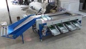 Rolling Bar Type Carrot Size Sorting Grading Machine