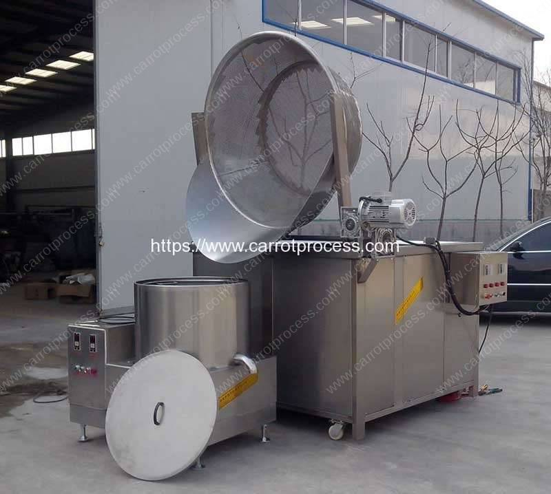 Sem-Automatic-Auto-Discharge-Type-Carrot-Frying-Machine