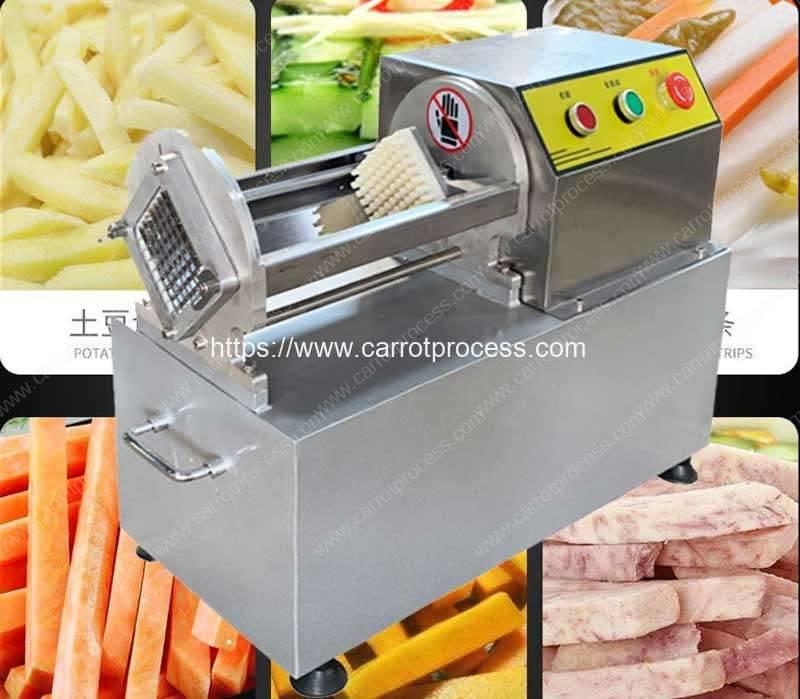 Semi-Automatic-Carrot-Long-Stick-Push-Cutting-Machine