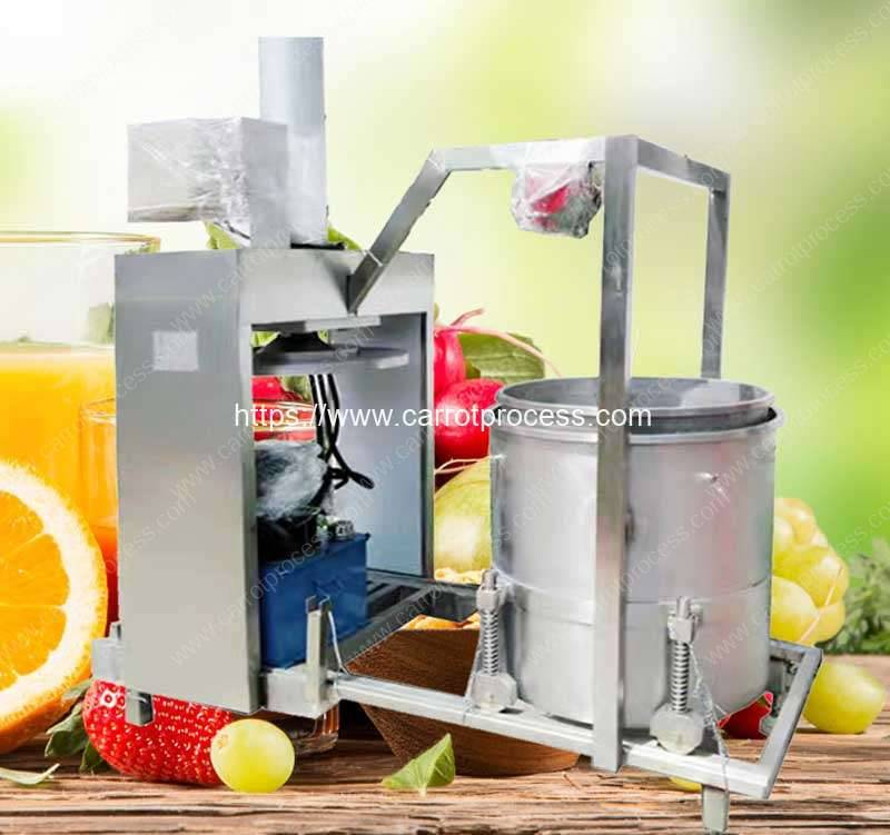 Hydraulic-Type-Single-Drum-Automatic-Discharge-Carrot-Juice-Pressing-Squeezer-Machine