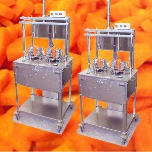 Automatic Carrot Four Sector Separating and Chips Cutting Machine