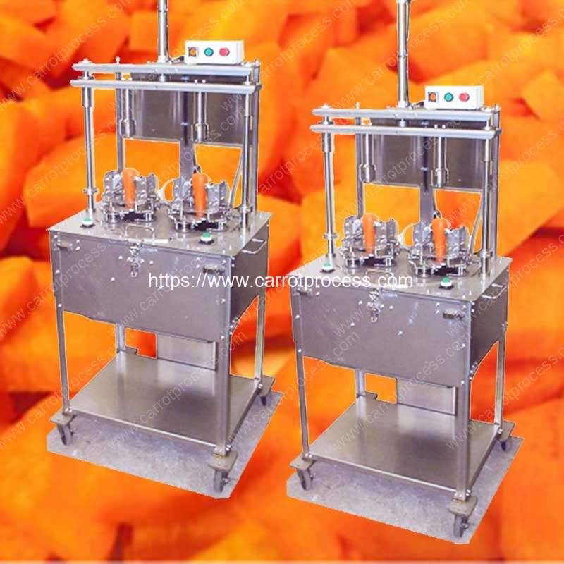 Carrot-Four-Sector-Separating-and-Chips-Cutting-Machine