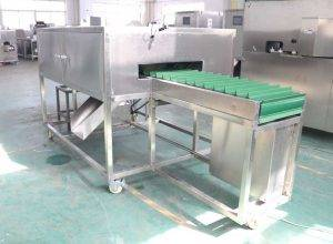Automatic Carrot Double Head Cutting Machine for USA Customer