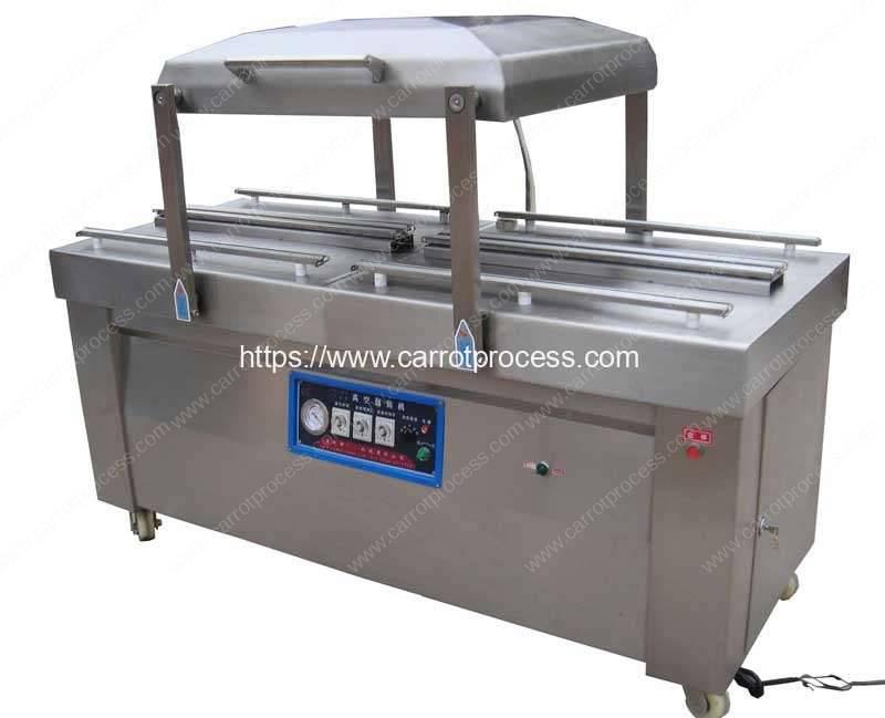 Double Chamber Carrot Vacuum Packing Machine