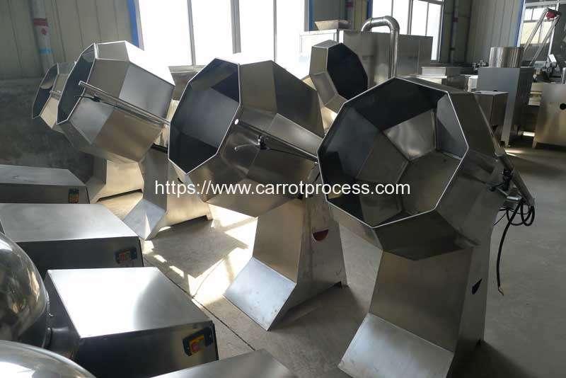 Semi-Automatic-Frying-Carrot-Fries-Seasoning-Machine