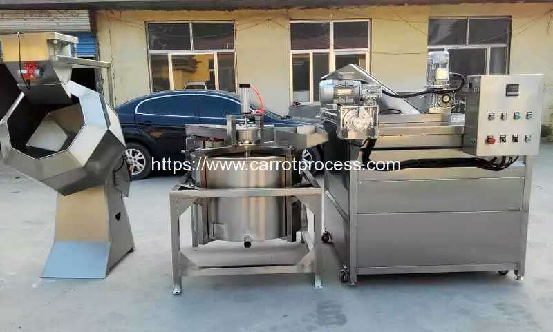 Semi-Automatic-Carrot-Frying-Machine-and-Seasoning-Machine