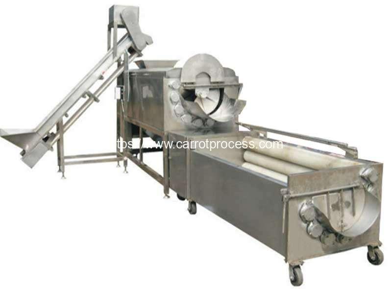 Large-Capacity-Brush-Type-Carrot-Washing-Machine