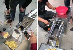 Semi-Automatic-Long-Carrot-Stick-Cutting-Machine