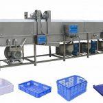 Máquina de limpieza de cesta de zanahoria con rociado de agua a alta presión